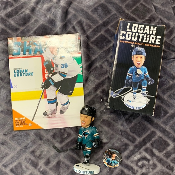 Logan Couture #39-3pkbobblehead autographed NWT
